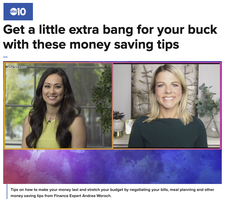 Easy budgeting tips on ABC10 Your California Life